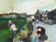 Gill WATKISS (British b. 1938)On the Way Home, Oil on board, Signed and dated 1982 lower right,