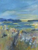 Lyn NORMAN (British b. 1947)Summer Sunrise Incoming Tide, Acrylic on canvas, Signed with initials