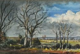 R J HECTOR (British 20th Century)Old Elms, Watercolour, Signed and dated '87 lower right, inscribed