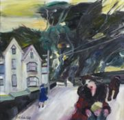 Gill WATKISS (British b. 1938) The Way Home, Oil on board, Signed lower left, signed and titled