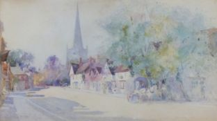 Thomas MacKAY (British 1851-1920)Solihull - High Street with St Alphege, Watercolour, Signed and