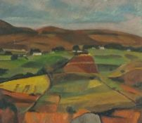 Horas KENNEDY (British 1917-1997)Donegal Fields, Oil on board, Inscribed with artist's name