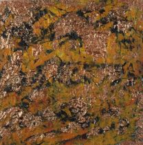 Elizabeth WHITE (British b. 1939)Golden Lichen, Mixed media, Signed and titled to mount, label