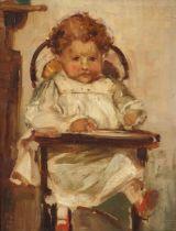 Edward Reginald FRAMPTON (British 1870/2-1923)Theodore - child in a highchair, Oil on canvas,