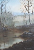 Alan KINGWELL (British b. 1955)Frosty Dawn, Oil on board, Signed and indistinctly dated (possibly'