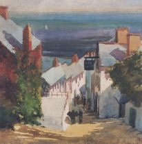 "Early 20th Century British School New Inn - Clovelly, Watercolour, 6.75"" x 6.75"" (17cm x 17cm)"