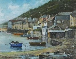 Nigel HALLARD (British 1937-2020)Mousehole Cornwall, Oil on canvas, Signed and dated 1996 lower