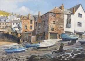 Frank McNICHOL (British 20th/ 21st Century)Summer Morning Port Isaac, Gouache, Signed and dated '09