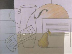 Geoffrey ROBINSON (British b. 1945)Musical Still Life, Acrylic on board, Signed upper right,