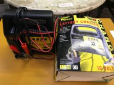 PRO USER BATTERY CHARGER SUITABLE FOR USE WITH 12V CAR, MOTOR CYCLE & LAWN MOWER BATTERIES