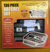 BOXED 130 PIECE RATCHET SET AS NEW