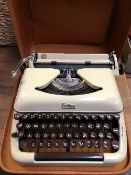 CASED TYPEWRITER ERICA MODEL 10 - IN GOOD CONDITION