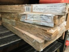 4 PACKETS OF OAK PARQUET FLOORING, UNSEALED BUT SANDED, EACH COVERING 0.69 SQ METERS