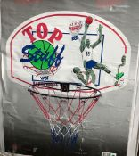 BOXED OFFICIAL BASKETBALL SET, NET & ATTACHMENT TO GO ON WALL