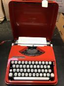 CASED HERMES BABY SCRIPT TYPE STYLE TYPEWRITER - GOOD CONDITION