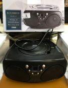 BOXED TESCO BOOM BOX FM RADIO & CD PLAYER