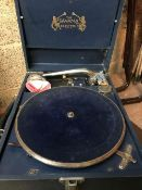 VINTAGE BOXED RECORD PLAYER BY COLUMBIA
