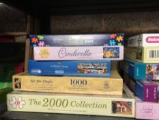 SHELF OF JIGSAW PUZZLES