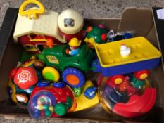 CARTON OF FISHER PRICE CHILDREN'S TOYS