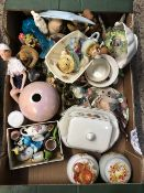 CARTON OF CHINA, DOLL ETC