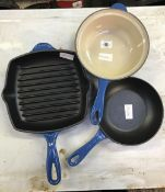 3 ITEMS OF LE CREUSET COOKING WARE
