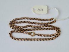 Good belcher link neck chain in 9ct 7.9g