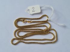 A BOX LINK CHAIN IN 18CT GOLD - 19gms