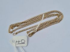 "A flat curb link neck chain in 9ct - 25"" long - 3.2gms"