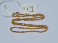 "A neck chain in 9ct - 15"" long - 2.9gms"