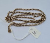 A fancy neck chain in 9ct - 11.2gms