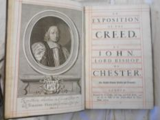 PEARSON, J. An Exposition of the Creed by John, Lord Bishop of Chester 8th.ed. 1704, London, engrvd.