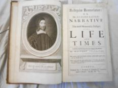 BAXTER, R. Relquae Baxterianae… engrvd. port. frontis. bnd. with SYLVESTER, M. Elisha's Cry… 1696,