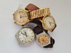 Four gents wrist watches by Sekonda with second sweep and date aperture Accurist with second sweep