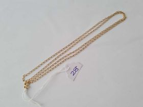 A neck chain in 9ct 26 inches - 4.1 gms