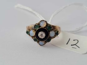 Another antique Victorian stone set dome shaped ring mounted in gold size O