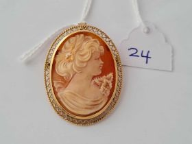 A cameo brooch / pendant 9ct - 5.4 gms