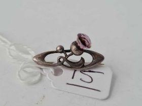 CHARLES HORNER 1908 silver thistle brooch