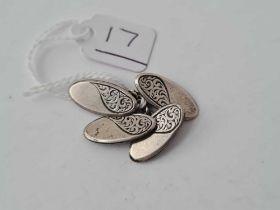 CHARLES HORNER 1918 silver decorative cufflinks