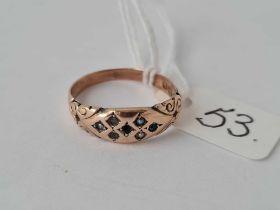 Edwardian 9ct rose gold ring full hallmarks (shank damaged stones out)