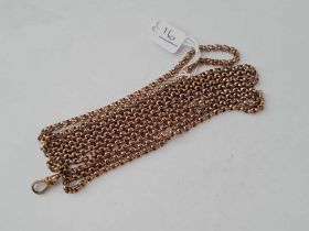A Victorian faceted gilt guard chain 51 inches