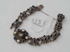 A antique AUSTRO HUNGARIAN gem set bracelet