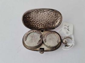 A double silver sovereign case