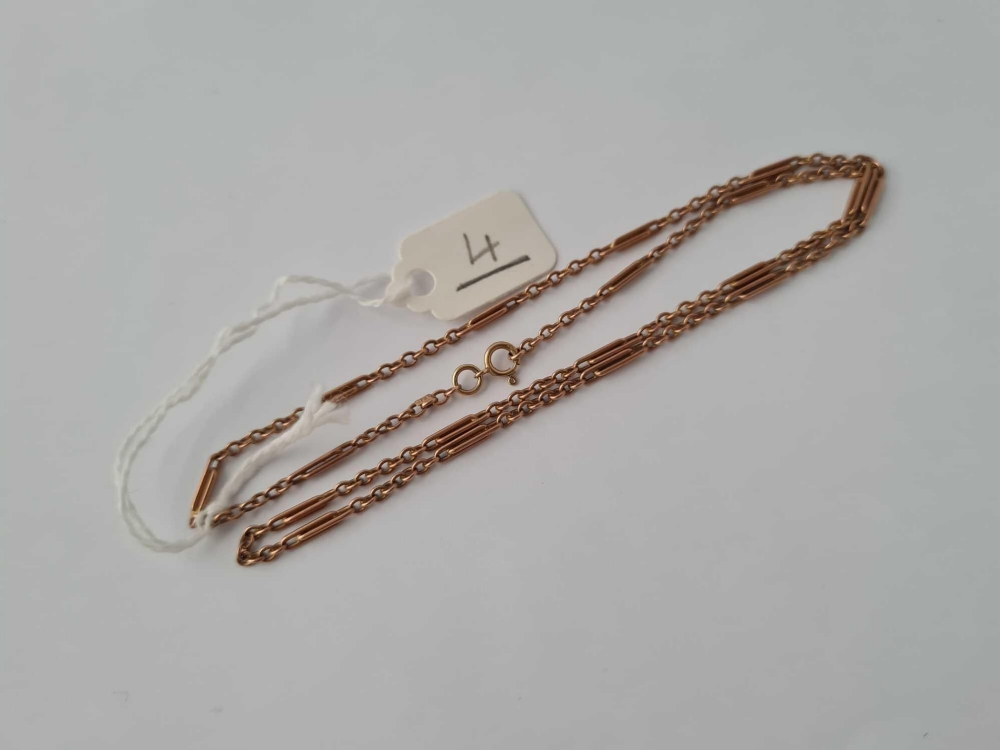 A short and long link neck chain 9ct 17 inches - 5.5 gms