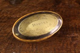 An Unusual Early 19th Century Welsh Horn Snuff Box of oval form.