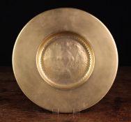 A Small 19th Century Brass 'Cardinal's Hat' Dish.