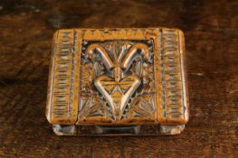 A Charming 18th Century Carved Fruit or Boxwood Snuff Box in the form of a book.