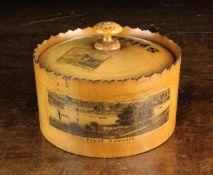 A Fine Early 19th Century Mauchline-ware Spice Box.