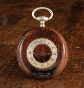 An Early 20th Century Novelty Treen Snuff Box in the form of a Pocket Watch.