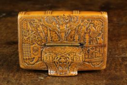 A Very Fine Early 18th Century North European Boxwood Snuff Box in the form of a Book.