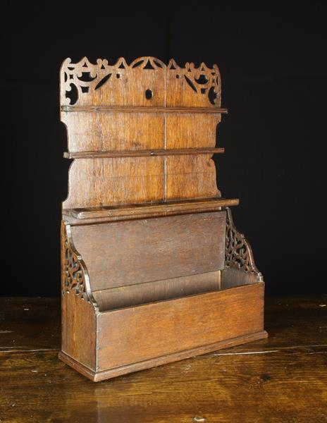 A Fabulous 18th Century Boarded Oak Pipe Rack, Circa 1760. - Image 2 of 2